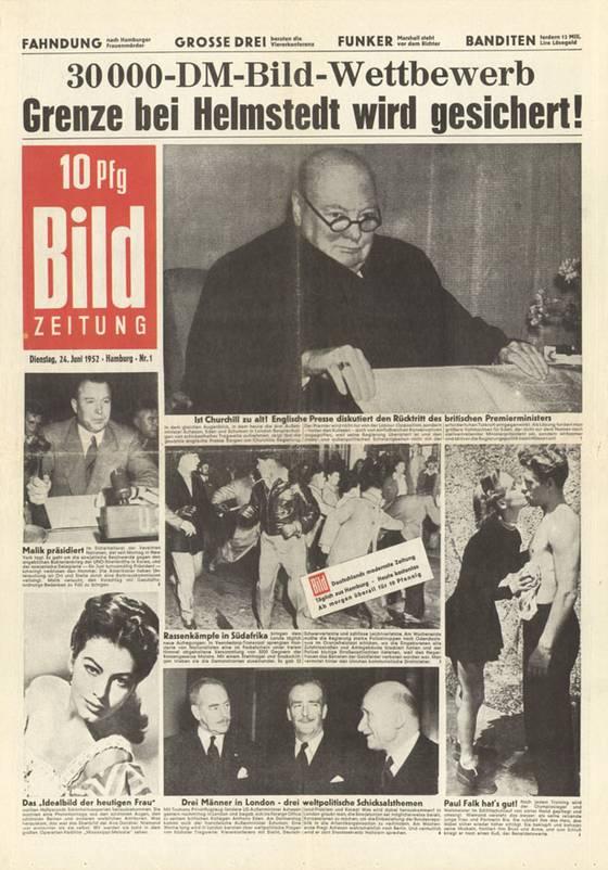 24 juni 1952 de eerste editie van de bild zeitung verschijnt. Black Bedroom Furniture Sets. Home Design Ideas